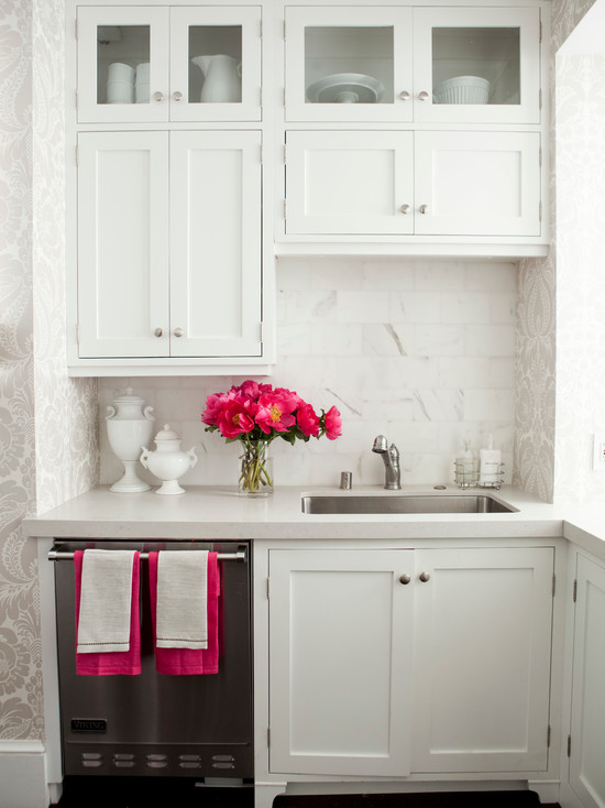 hot pink kitchen accessories zeal mat | Hot Pink Accents - Transitional - kitchen - Caitlin Wilson ...