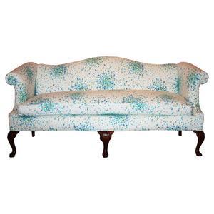 Splatter Print Camelback Sofa