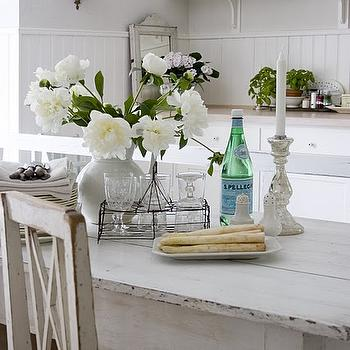 White Dining Table Design Ideas - White wash dining table