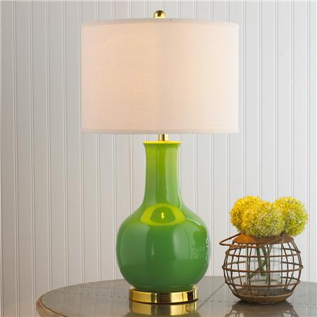shades of light classic ceramic bottle table lamp green
