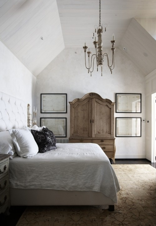 French Armoire Transitional Bedroom Tracery Interiors