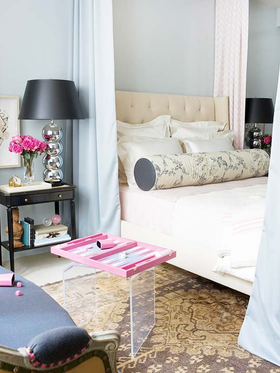 Blue Grey Walls, Contemporary, bedroom, Farrow & Ball Skylight, Traditional Home