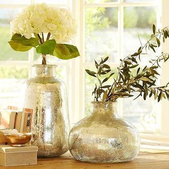 Bubble Mercury Glass Vases, Pottery Barn