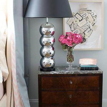 Marble Top Nightstand, Transitional, bedroom, Farrow & Ball Skylight, Traditional Home