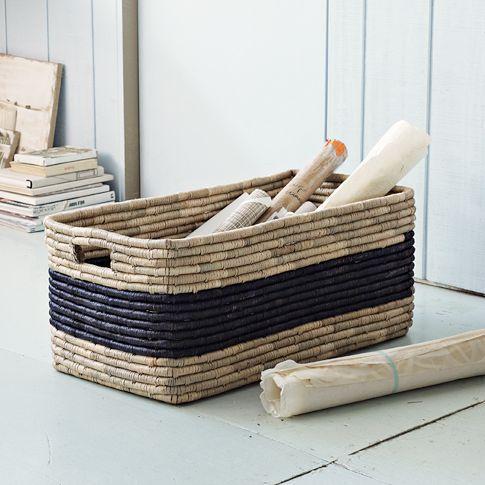 Patterned Basket   Oversized   West Elm