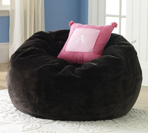 Fantastic Faux Fur Beanbag Espresso Pottery Barn Bralicious Painted Fabric Chair Ideas Braliciousco
