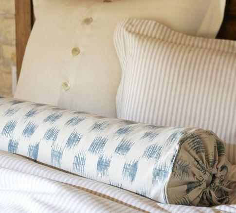 Ikat Bolster Pillow Cover Pottery Barn