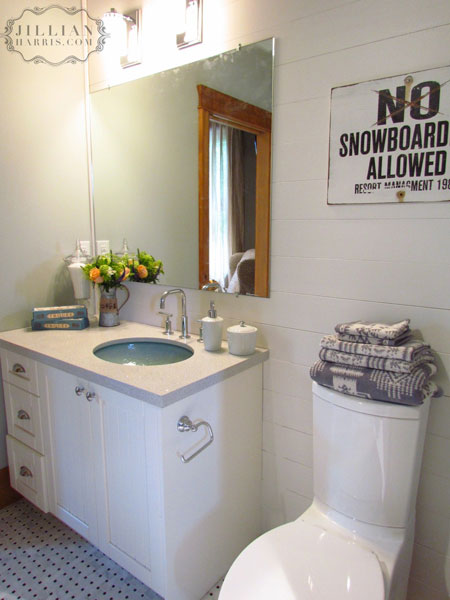 Vintage Sign, Vintage, bathroom, Jillian Harris