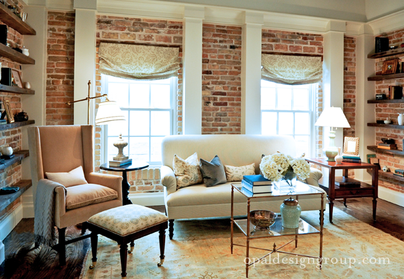 Brick Living Room Ideas Traditional Living Room Opal