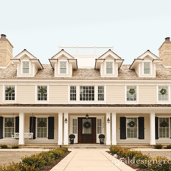 Covered Porch, Transitional, home exterior, Opal Design Group
