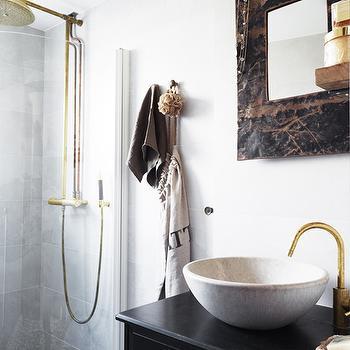 Offset Faucet, Eclectic, bathroom, Skonahem