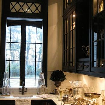 Black Butler's Pantry, Transitional, kitchen, The Enchanted Home