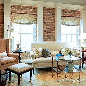 Brick Living Room Ideas, Traditional, living room, Opal Design Group