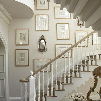 Wall Sconces On Staircase : Gold Sconces - Transitional - entrance/foyer - Disc Interiors