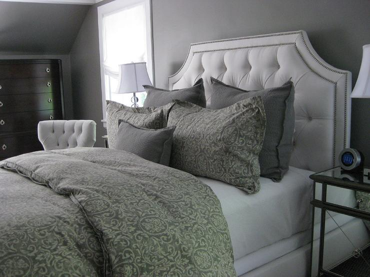 Gray Bedroom Transitional Bedroom Benjamin Moore