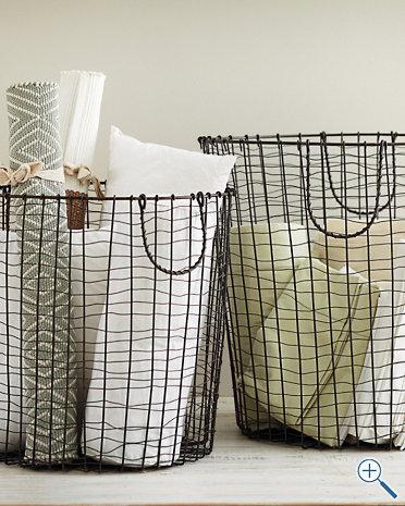 Round Wire Baskets, Garnet Hill