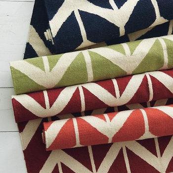Chevron Flat-Weave Wool Rug, Garnet Hill