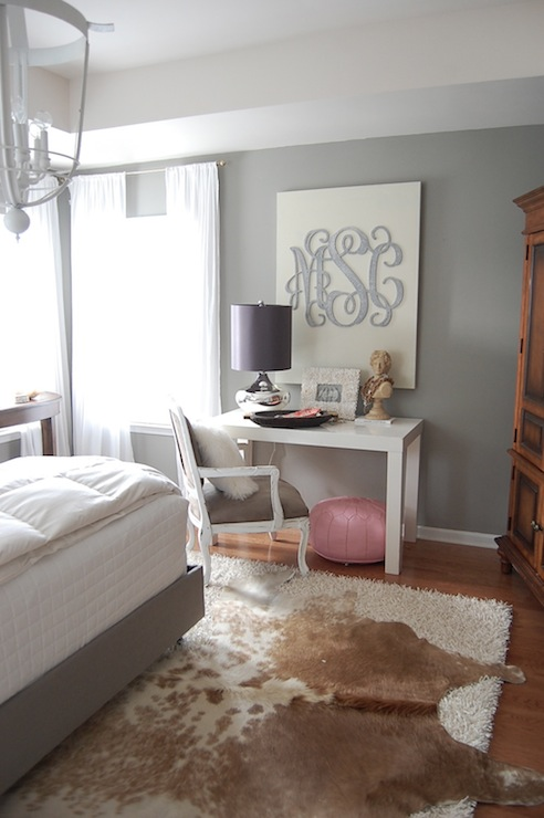 grey walls contemporary bedroom martha stewart