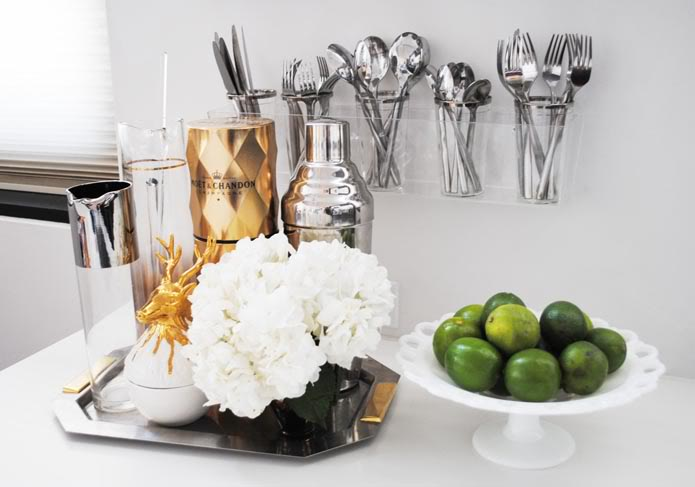 Acrylic Utensils Rack, Contemporary, kitchen, The Glamourai