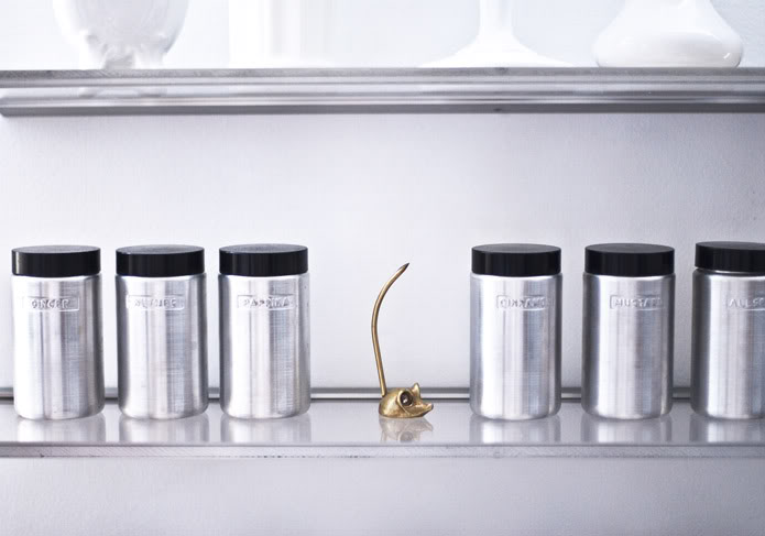 Aluminum Spice Canisters, Contemporary, kitchen, The Glamourai