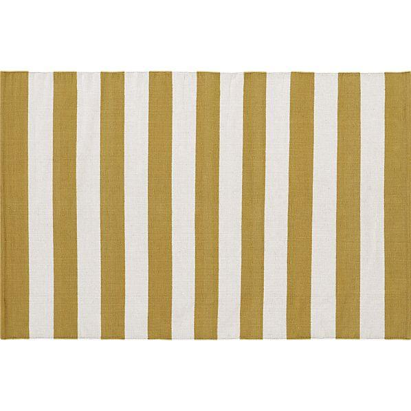 Olin Gold Rug in New Accessories, Crate and Barrel