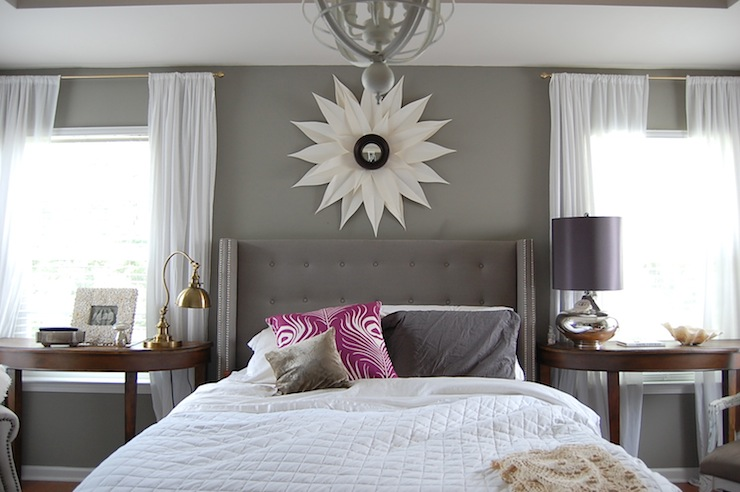 Gray Walls Contemporary Bedroom Martha Stewart