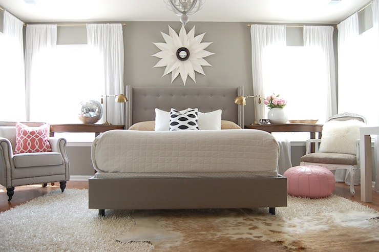 Gray Bedroom - Contemporary - bedroom - Martha Stewart Flagstone ...