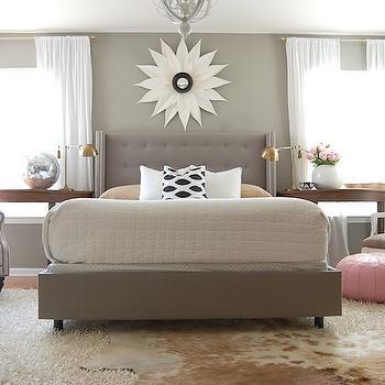 Gray Bedroom, Contemporary, bedroom, Martha Stewart Flagstone, The Nester