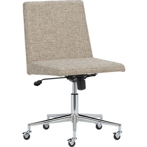 natural office chair in work CB2