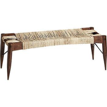 wrap bench in ottomans, benches, CB2