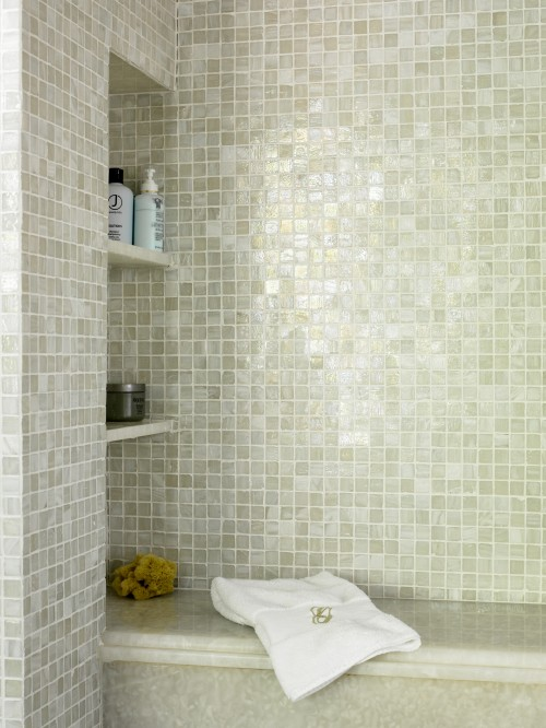 Iridescent Tile Bathroom Contemporary Bathroom Liz Williams