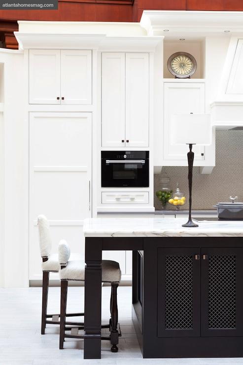 Calacatta Borghini Marble Countertops Transitional Kitchen