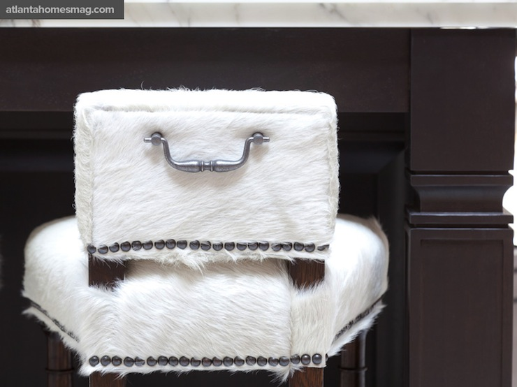 Cowhide Bar Stools view full size - Cowhide Bar Stools - Transitional - Kitchen