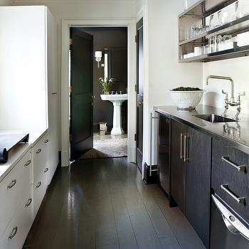 Two Tone Galley Kitchen Design Ideas