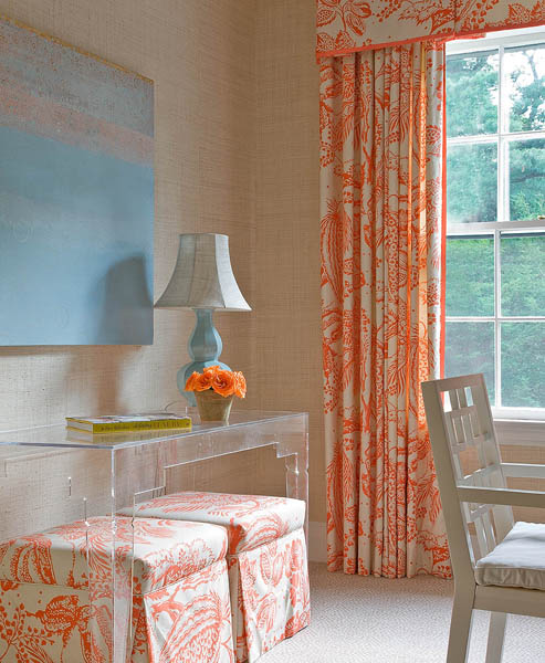 Orange Curtains Design Ideas