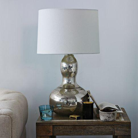 gourd table lamp mercury west elm. Black Bedroom Furniture Sets. Home Design Ideas