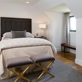 Black Tufted Headboard, Contemporary, bedroom, Tiffany Eastman Interiors