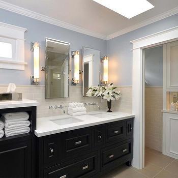 Black Double Washstand, Traditional, bathroom, Casey Banks Design