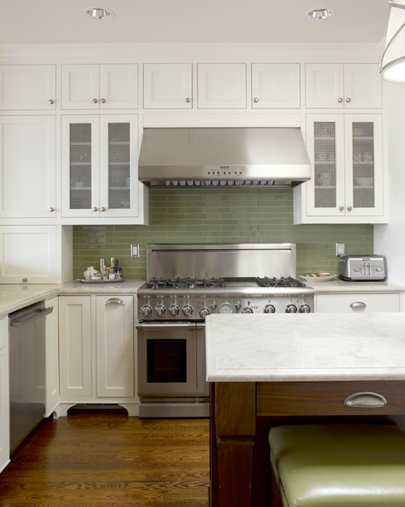 Green Kitchen Backsplash - Contemporary - kitchen - Graciela ...
