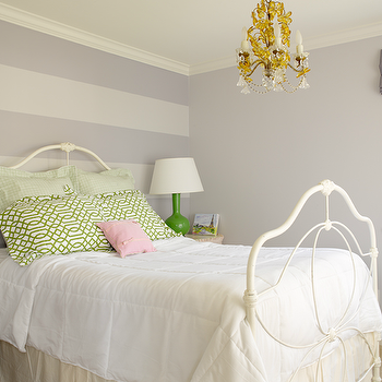 Striped Accent Wall, Transitional, girl's room, Graciela Rutkowski Interiors
