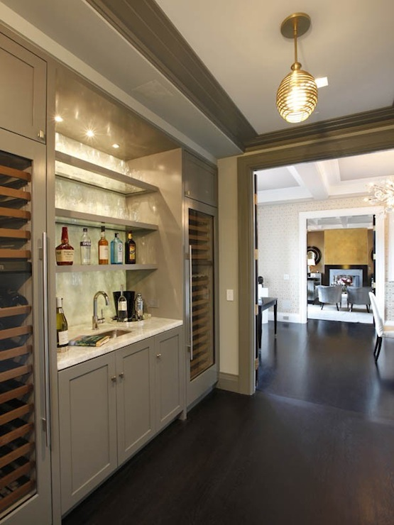 Wet Bar Design Contemporary Kitchen Pricey Pads