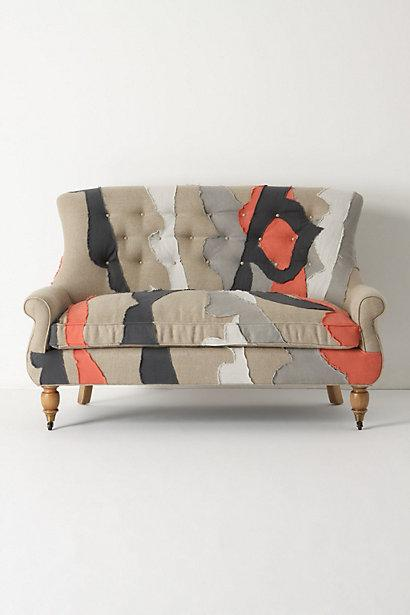 Astrid Settee, Patchwork, Anthropologie.com