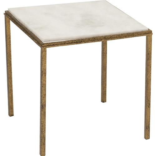 Hammered Gold Square Table, Global Views