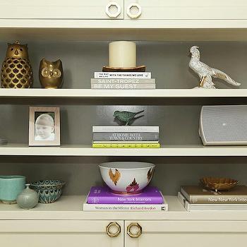 Styled Built Ins, Contemporary, den/library/office, Jenn Feldman Designs