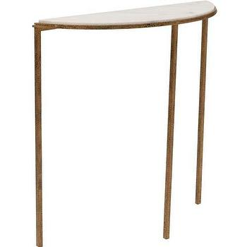 Hammered Gold Console Table