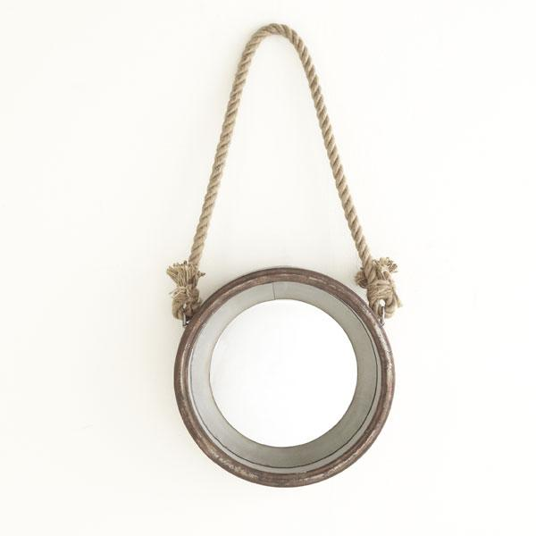 Hanging porthole mirror mirrors wisteria for Hanging mirror