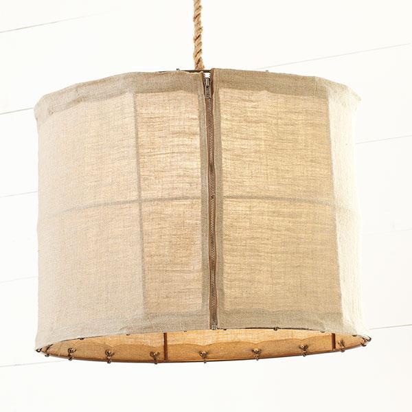 Linen Pendant Lamp, Decorative Lighting, Wisteria