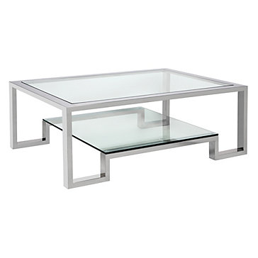 Worlds away winston nickel plated coffee table look 4 less for Coffee tables z gallerie
