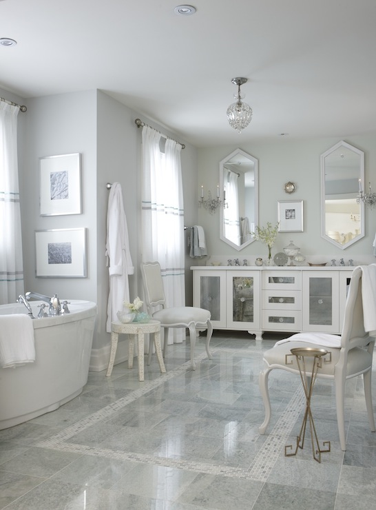 Bathroom Vanity In Front Of Window mirrored bathroom vanity - contemporary - bathroom - sarah