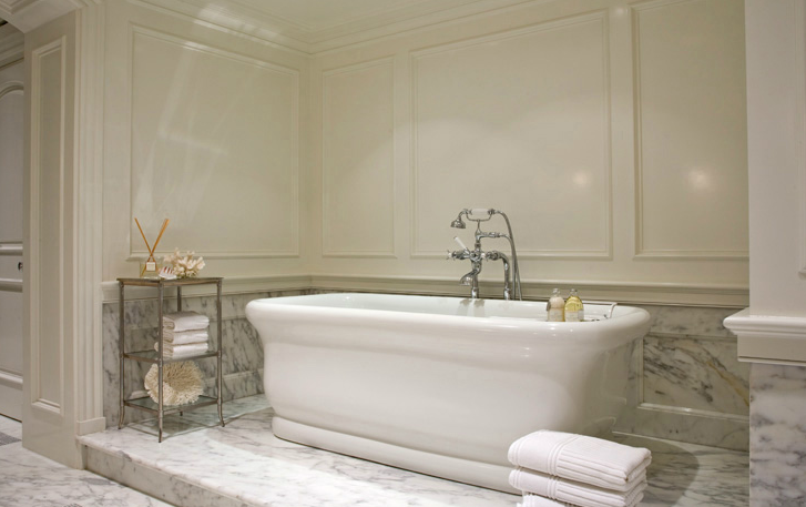 Bathtub Nook Transitional Bathroom Mark Lohman